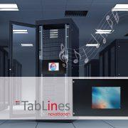 TabLines Tablet Einbau im 19 Zoll Schrank IT Rack
