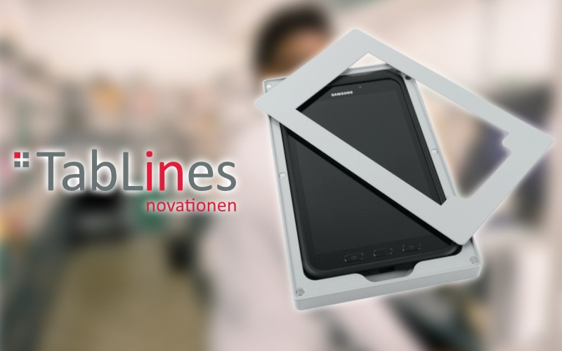 TabLines Tablethalter mit Touchpen Aussparung und Kunststoff Inlay