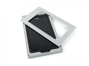TabLines Tablethalter mit Touchpen Aussparung und Kunststoff Inlay, Detail