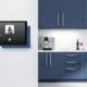 TabLines Tablet Wandhalter inklusive Ladefunktion, TWP in Sonderfarbe blau