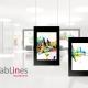 Tablets in Galerieschienen präsentieren