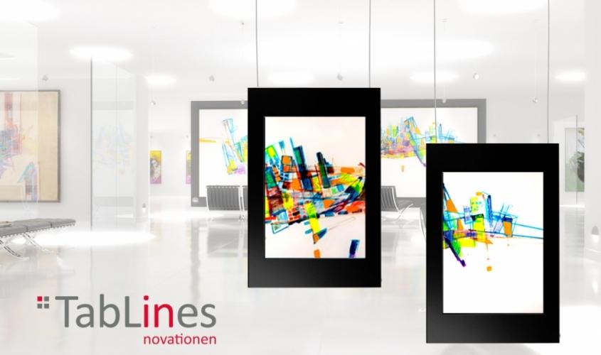 Tablets an Galerieschienen
