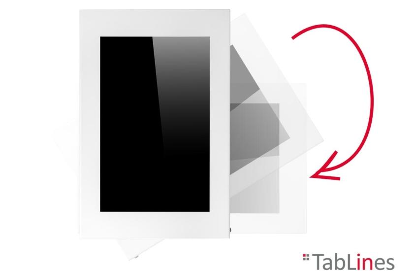TabLines TSG077 Schutzgehäuse für iPad 10.2 Zoll (8. Generation) mit 90° Drehfunktion