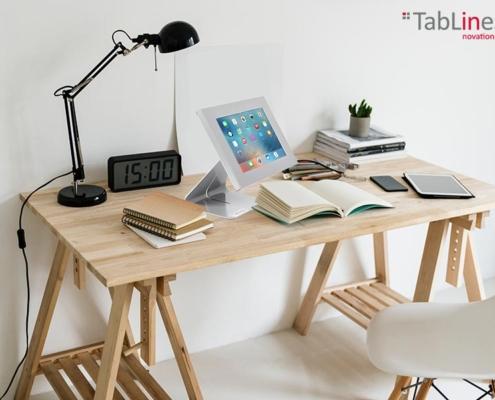 TabLines TTS Tablet Tisch Ständer mit TSG, silber, Anwendung