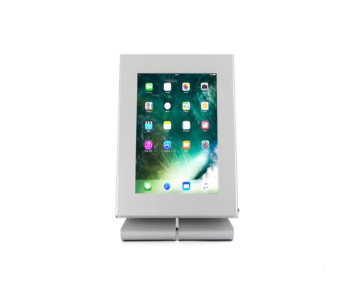 TabLines TTS Tablet Tisch Ständer mit TSG, silber, Hochformat