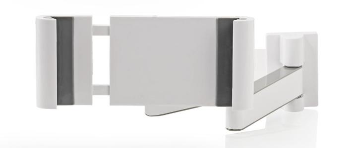 TabLines TWC002 schwenkbare Tablet Wandhalterung Click, weiß