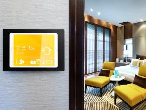 TWH Tablet Wandhalterung Anwendung Hotel