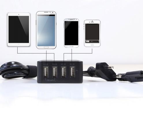 TabLines USB4 C 4Port USB Ladegerät inkl. 1m Kabel Anwendungsbeispiel