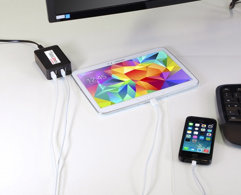 TabLines USB4 C 4Port USB Ladegerät inkl. 1m Kabel Anwendung