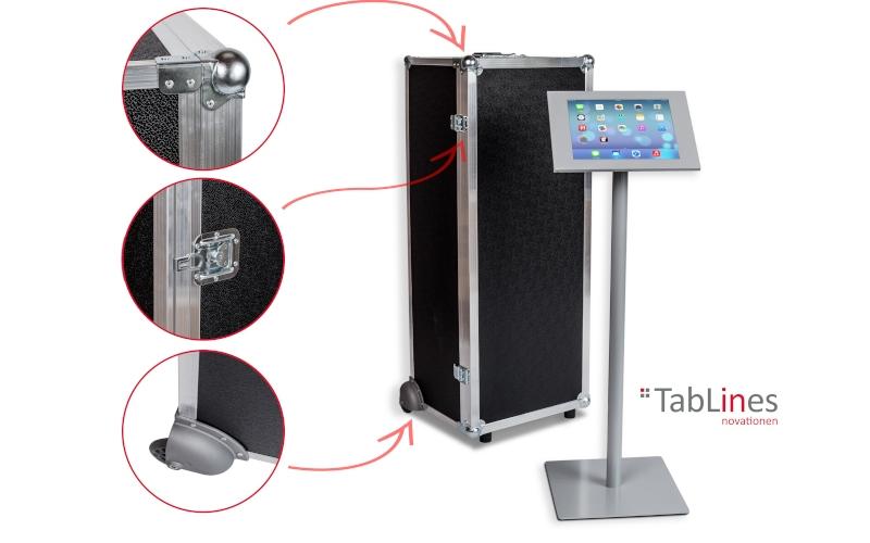 TabLines Transportcase für Tablet bBodenständer TBS003 mit Schutzgehäuse