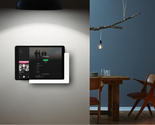 TabLines TWP mit Ladefunktion in Weiß, iPad Halterung Wand